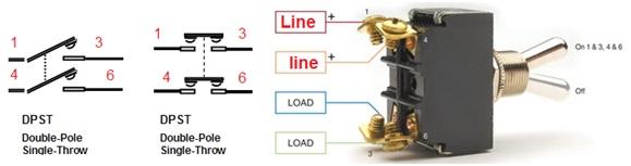 مفتاح ثنائي القطبية - احادي التحويلة أو المخرج