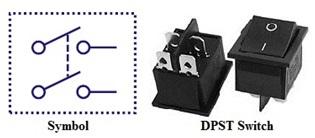 مفتاح ثنائي القطبية - احادي التحويلة والمخرج
