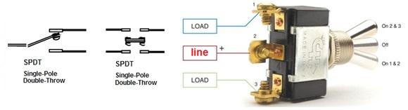 مفتاح أحادي القطبية - ثنائي التحويلة أو المخرج